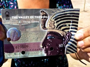The ticket of entry to the Valley of the Kings.