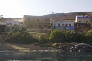 The view of the village from the Nile.