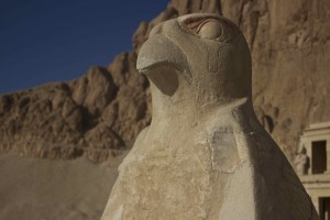 A statue guard at Hatshepsut's temple.