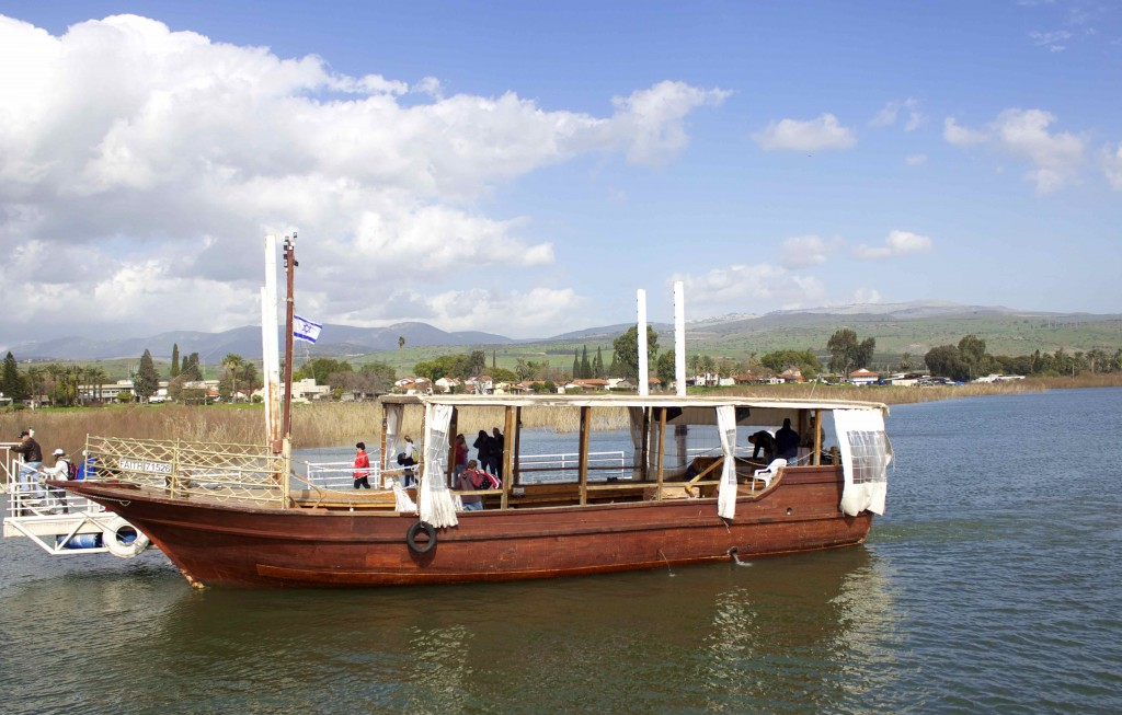 Our boat on the Sea of Galilee.