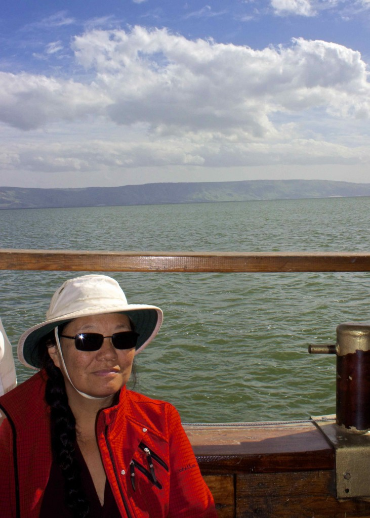 Wanda on the sea of Galilee.