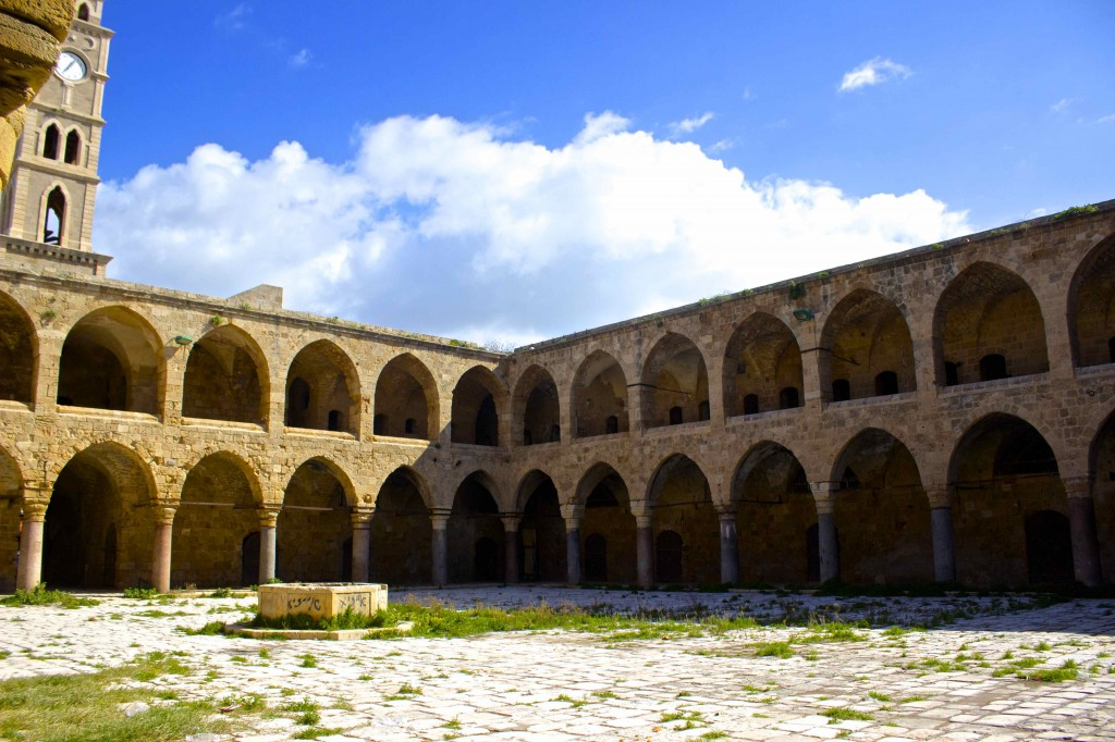 The courtyard of the crusader's fortress.
