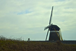 An traditional windmill seen in the country.