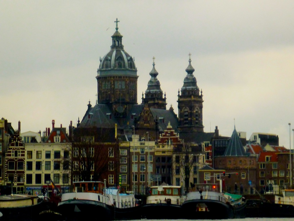 The buildings of Amsterdam.
