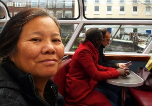Wanda on the Amsterdam canals.