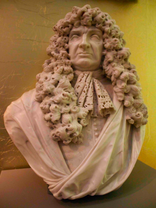 A statue in the museum.