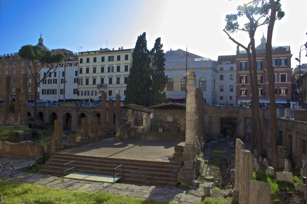The site of Caesar's assassination.