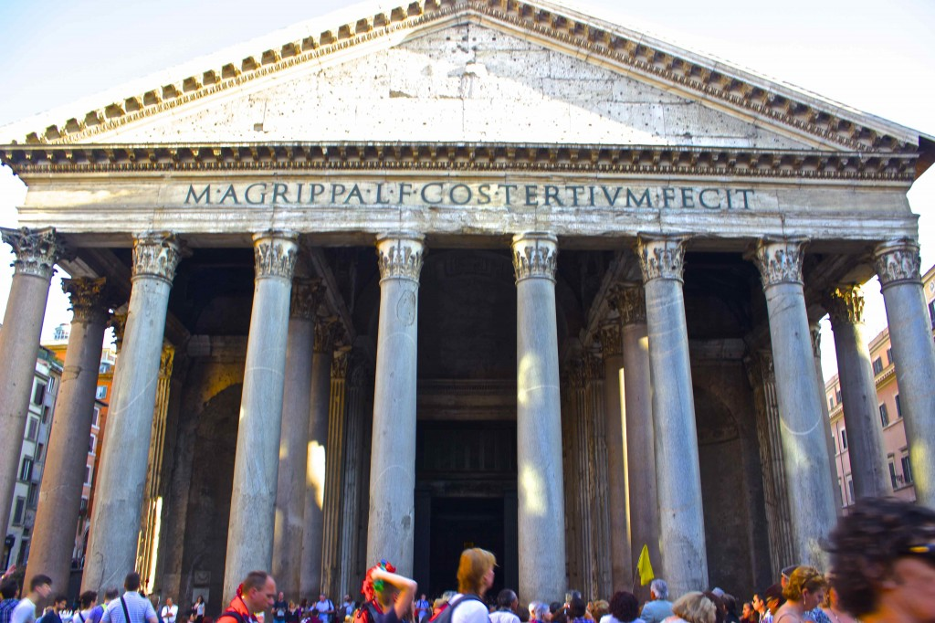 The Roman Pantheon.