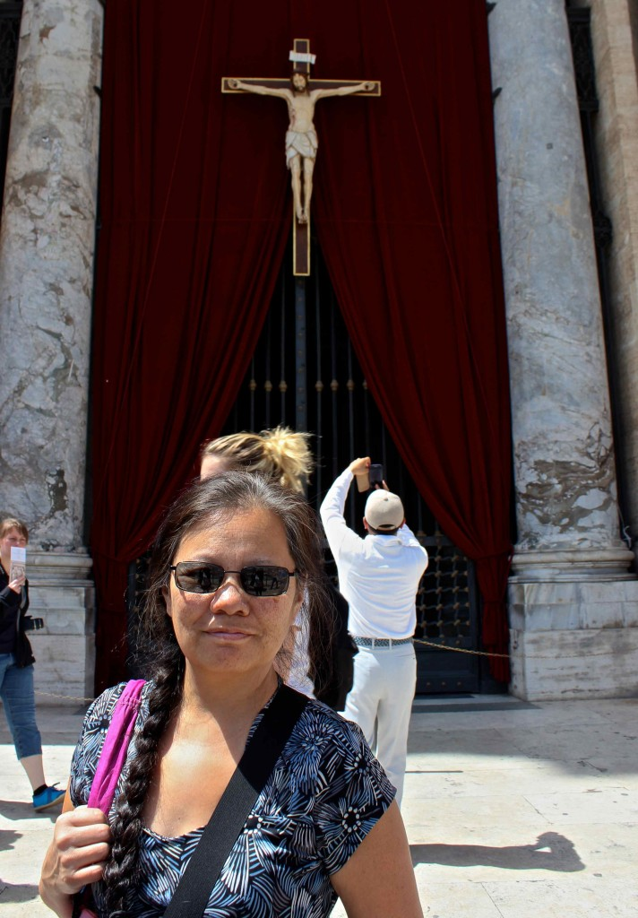 Wanda inside the Vatican city.