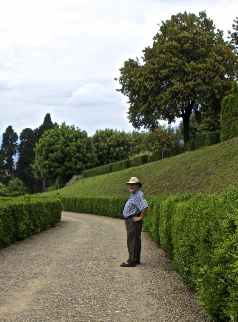 Seamus in the Boboli Gardens.