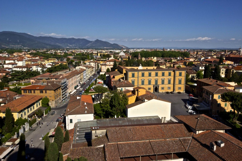 The view of Pisa from the tower.