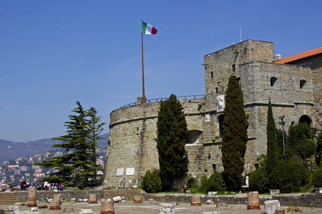 A fortress in the hills of Trieste.