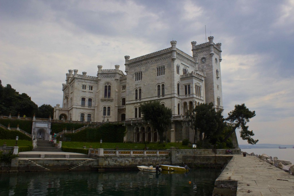The Miramare castle.