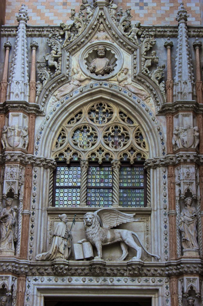 Saint Mark and his Lion on the Doge's Palace.