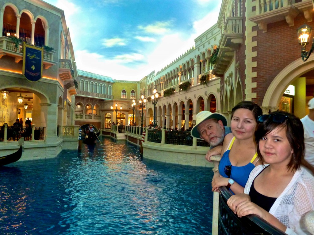 Seamus, Siobhan and Meadhbh at the Venetian hotel in Las Vegas.