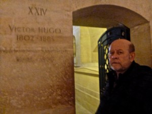 Seamus by Hugo's tomb.