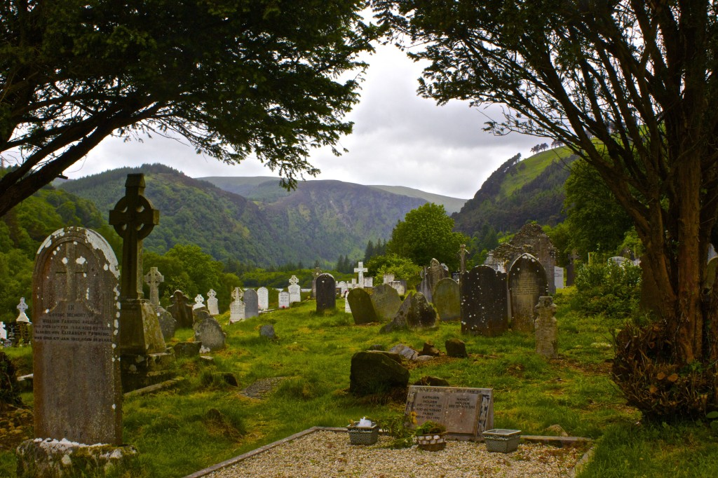 The Glendalough cemetery.