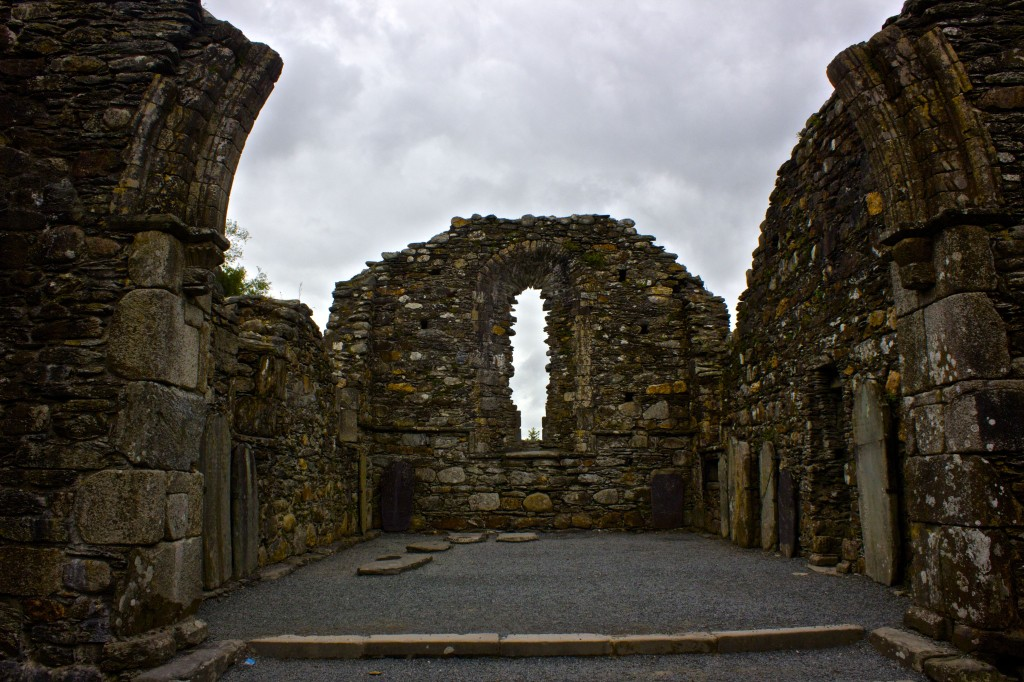 A ruined building in Glendalough.