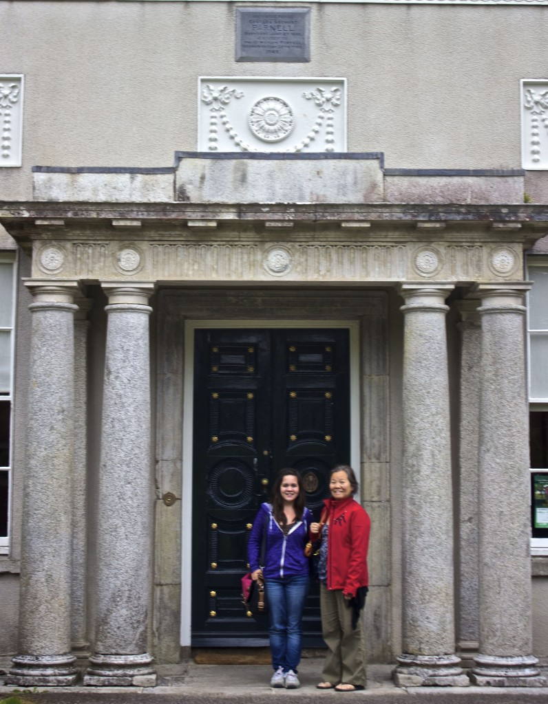 Meadhbh and Wanda outside the house of Parnell.