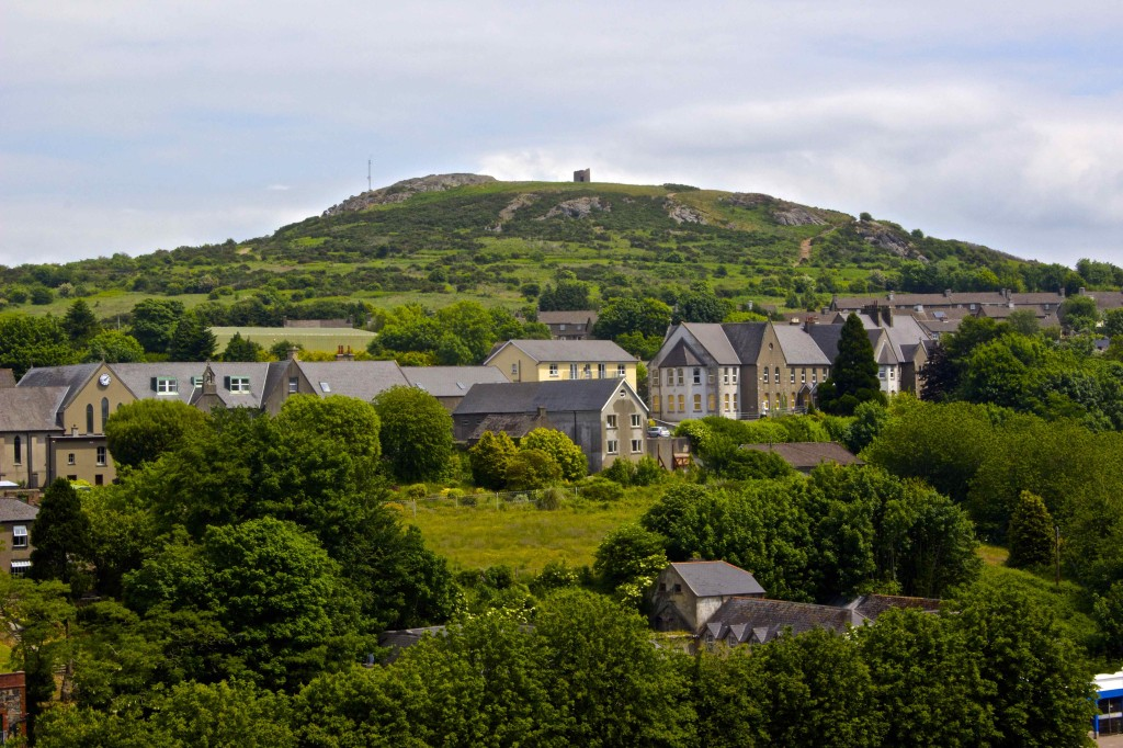 The view of Vinegar Hill from the castle.