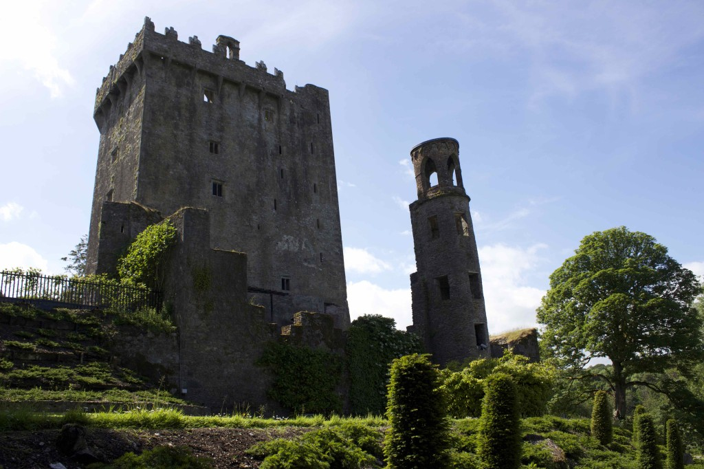 The back of the Blarney Castle.