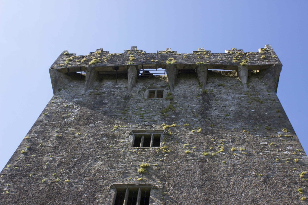 The Blarney stone as seen from the ground.