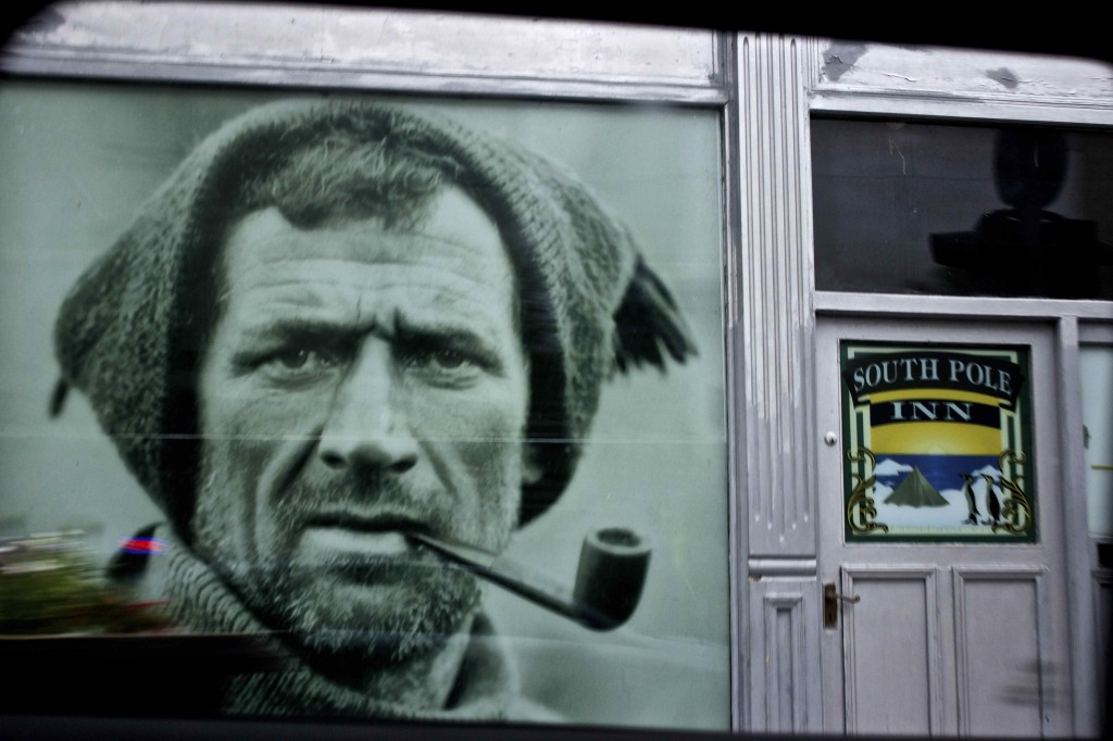 Tom Crean, Irish explorer of the Antarctic from Kerry posted by the South Pole Inn.