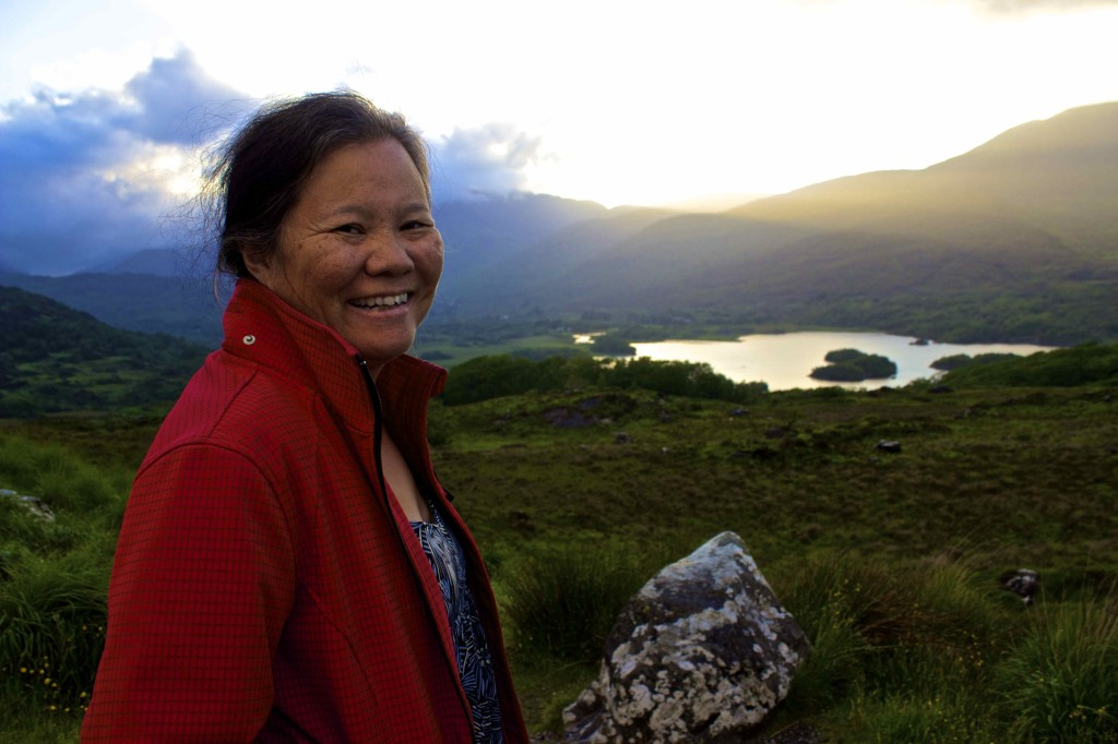 Wanda taking in the views in Kerry.