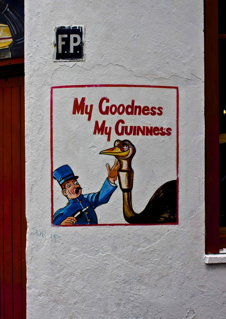 An old advertisement in Galway for Guinness.