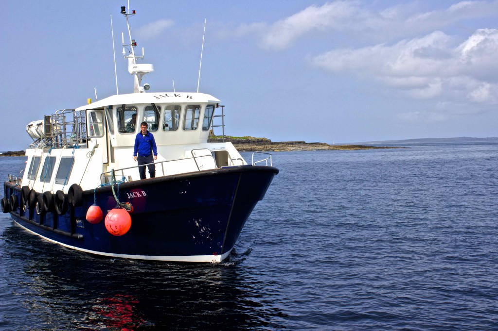 The boat that took us to the Aran Island.