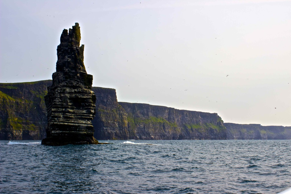 Moher from the ocean.