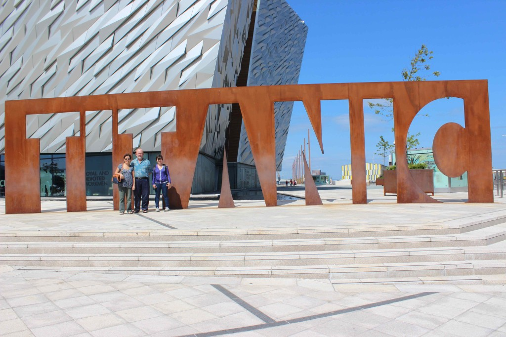 Outside the Titanic museum.
